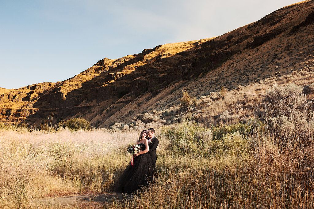 Main image: Moody Romantic Fall Wedding Shoot