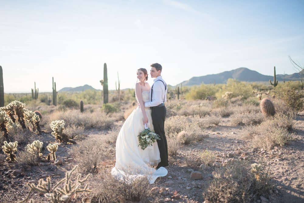 Main image: Minimalist Styled Wedding Shoot in the Arizona Desert