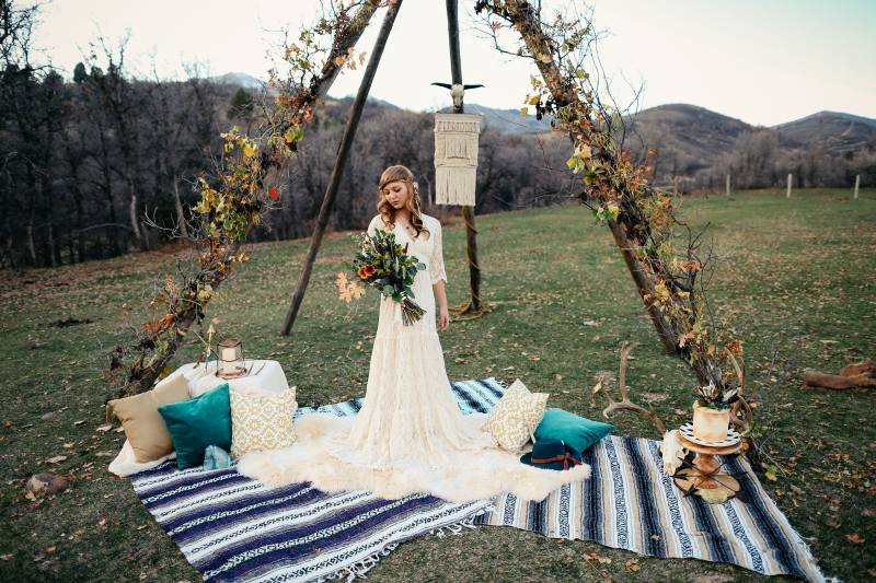 Main image: Bohemian Harvest Wedding - Styled Shoot