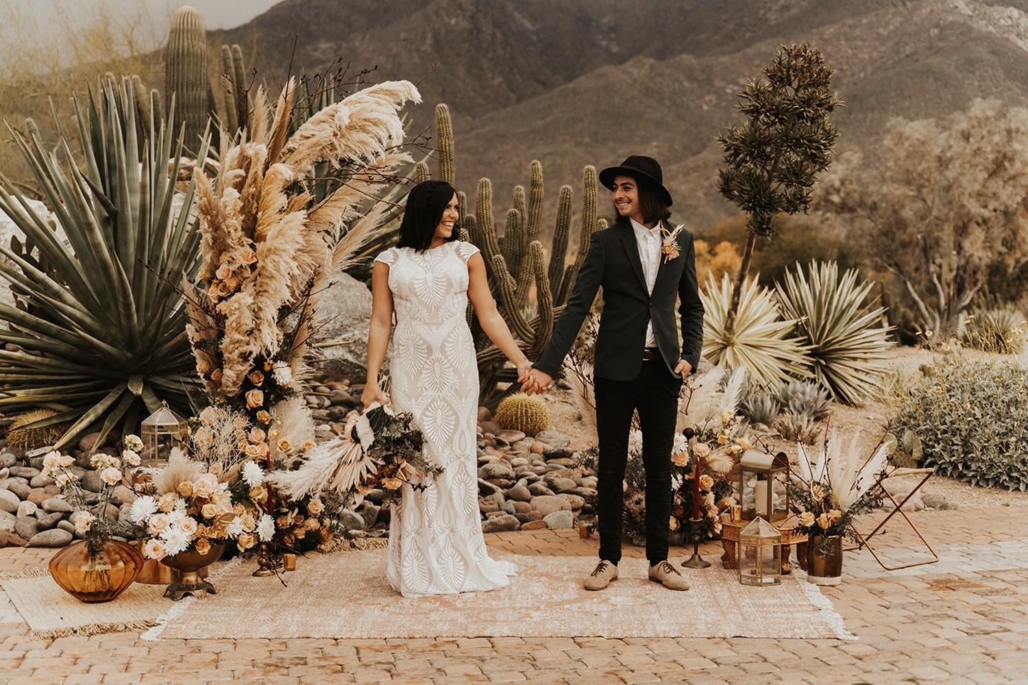 Main Picture: Bohemian Palm Springs Wedding Inspiration with a Modern Twist