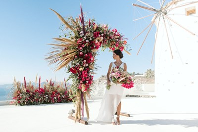 Vibrant Bohemian Santorini Wedding Inspiration