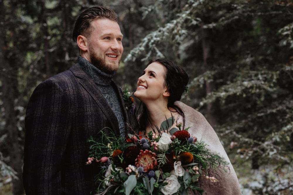 Main image: Sunrise wedding in the Rockies - Styled Wedding Shoot